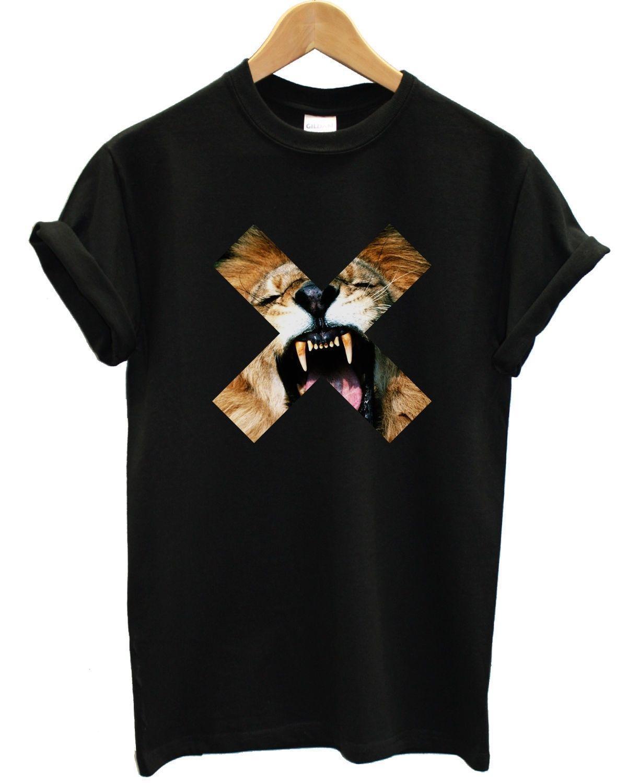 Acquista Lion Cross Maglietta Top X Roar Urban Hip Hop Street Style  Abbigliamento Uomo Marca Cartoon Maglietta Uomo Unisex Nuova Maglietta Di  Moda A  10.66 ... 9ebf1071730