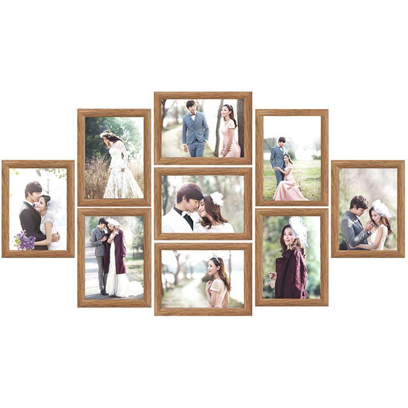 Compre Marco De Fotos De La Boda De La Familia Set Resina Parejas De ...