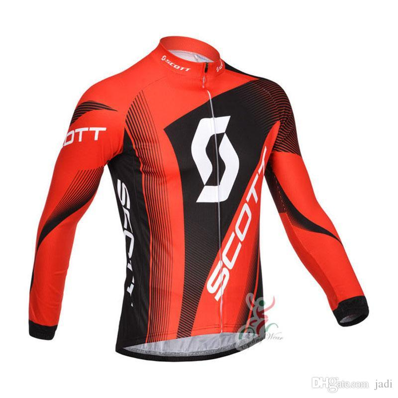 Spring Autumn 2018 Pro Team Scott Long Sleeve Cycling Jersey Mtb Bicycle  Tops Men Breathable Mountain Bike Wear Cycling Clothing F2801 Scott Cycling  Jersey ... f35b2905a
