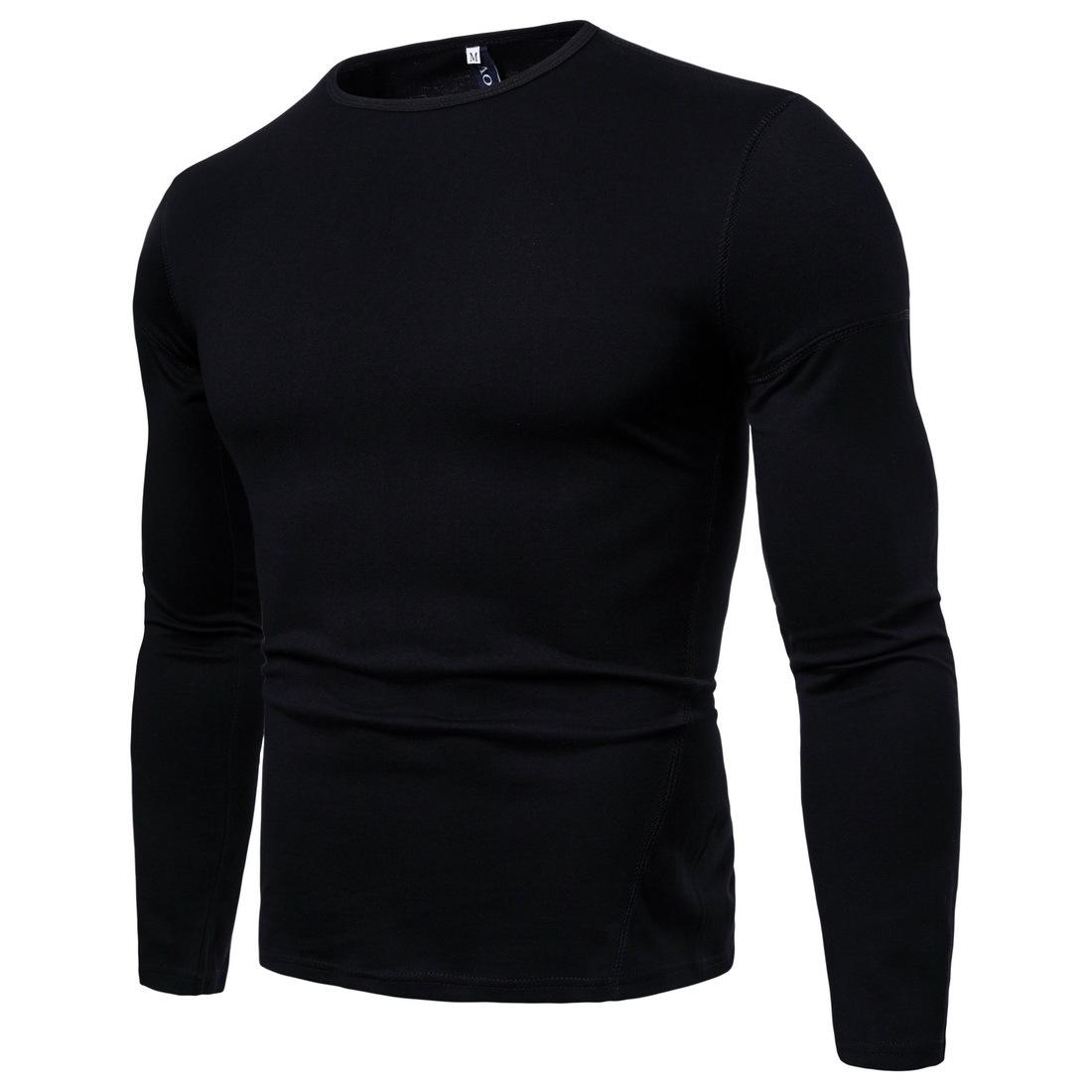 Acheter Marque T Shirts À Manches Longues Hommes Solide V Cou Plaine Casual  Bas T Shirt Pour Hommes Tops Homme Automne Hiver T Shirts Tops J181122 De   18.48 ... ea61a040d9b