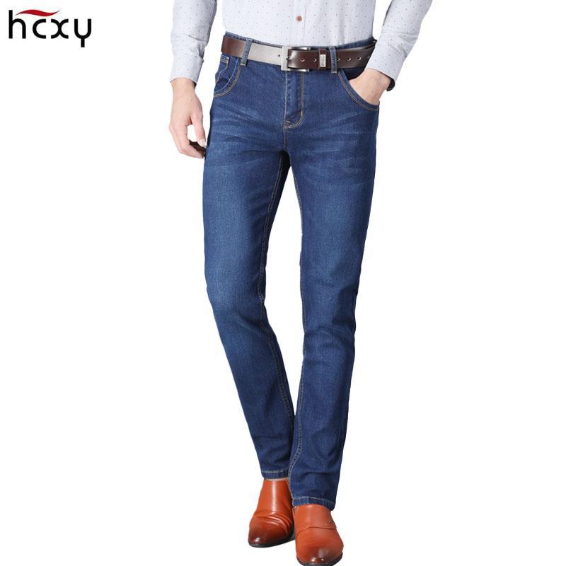 29d545281c Großhandel 2018 Neue Männer Jeans Business Casual Dünne Slim Blue Jeans  Stretch Hosen Klassische Denim Männer Von Shipsoon, $60.07 Auf De.Dhgate.