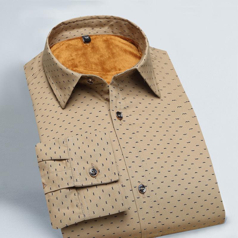 size 40 acd33 ead5a Camicia uomo inverno cotone levigatura camicie di flanella mens  ispessimento più dimensioni 4xl velluto a maniche lunghe plaid camicia  abbigliamento ...