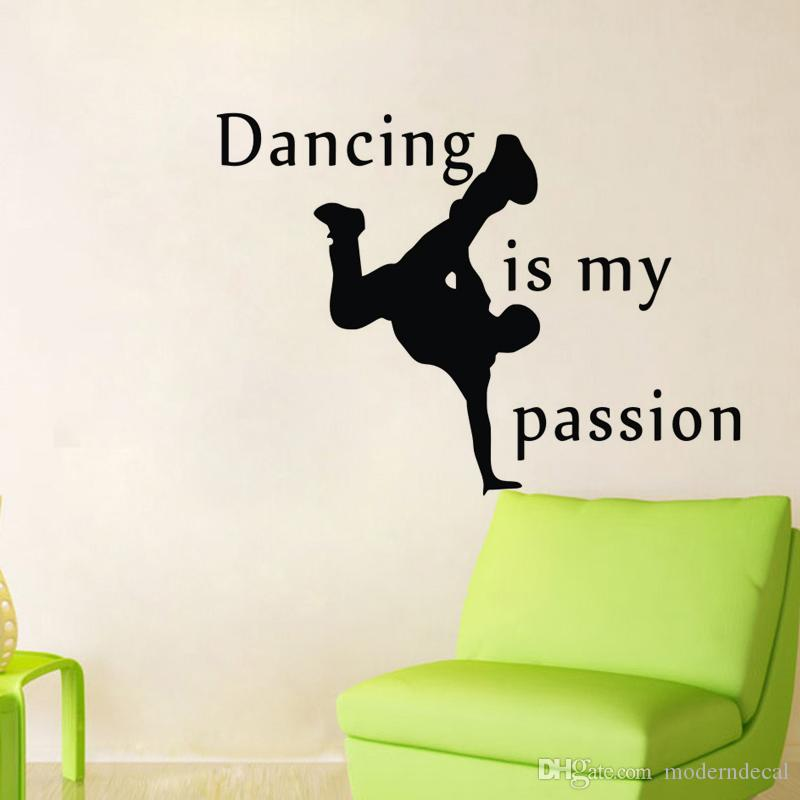 Dancing Is My Passion Wall Decals Quotes Vinyl Adhesive Wall