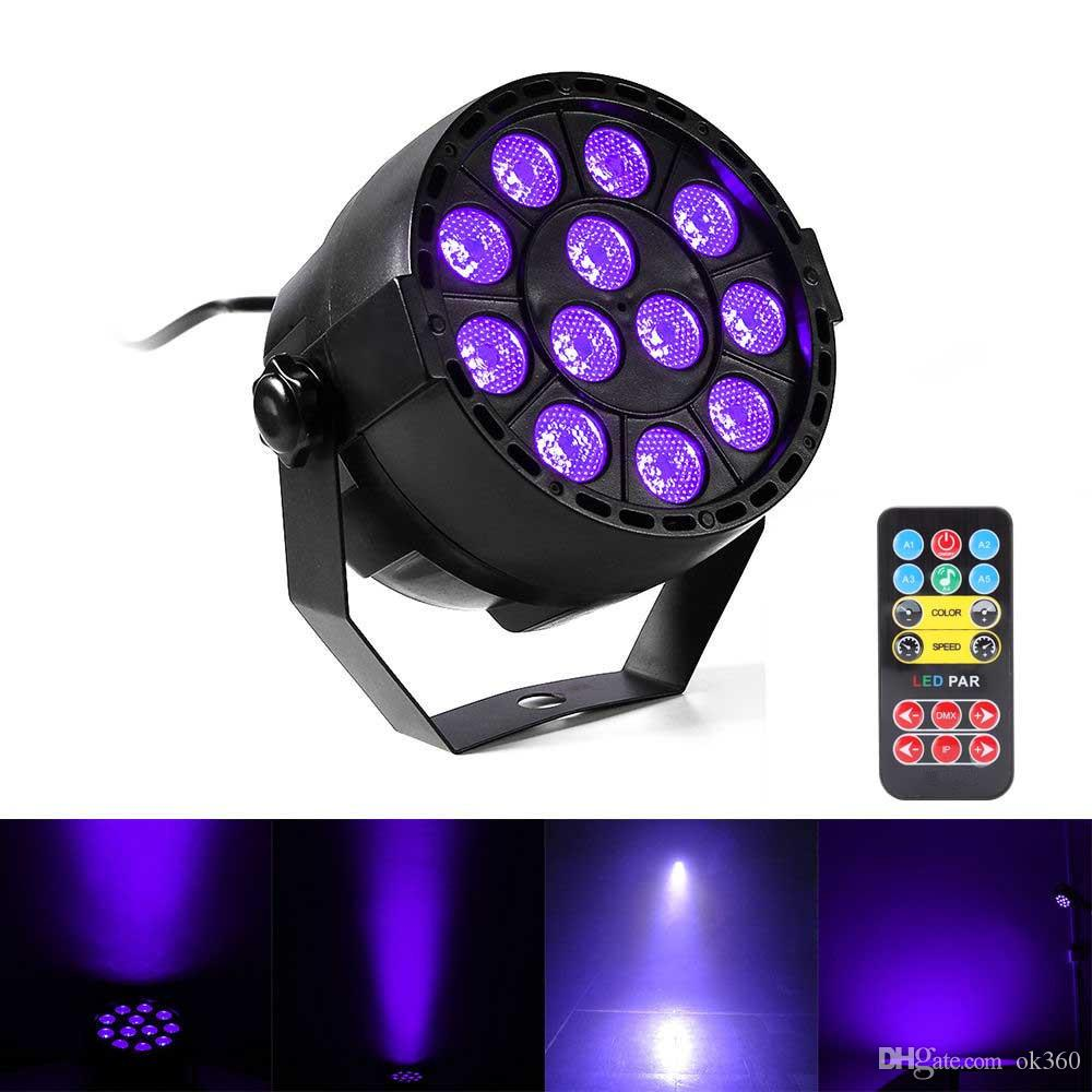 Led Wall Dj Light: 36W UV LED Stage Light Sound Active 12 LEDs Auto DMX