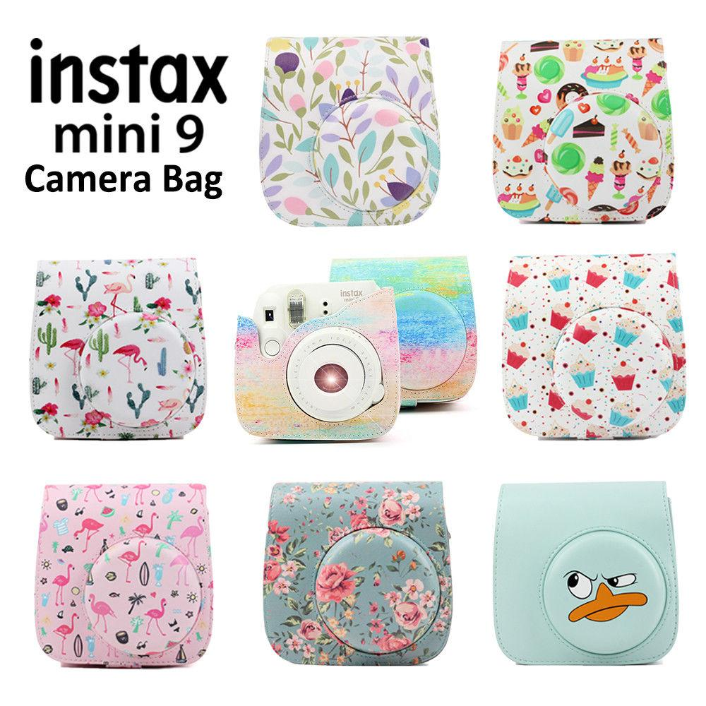 3431e1d83bd2 2019 Optional Carry PU Leather Bag Case Cover With Shoulder Strap For  Instax Mini 9 Mini 8 8+ Instant Film Photo Camera From Sibyle