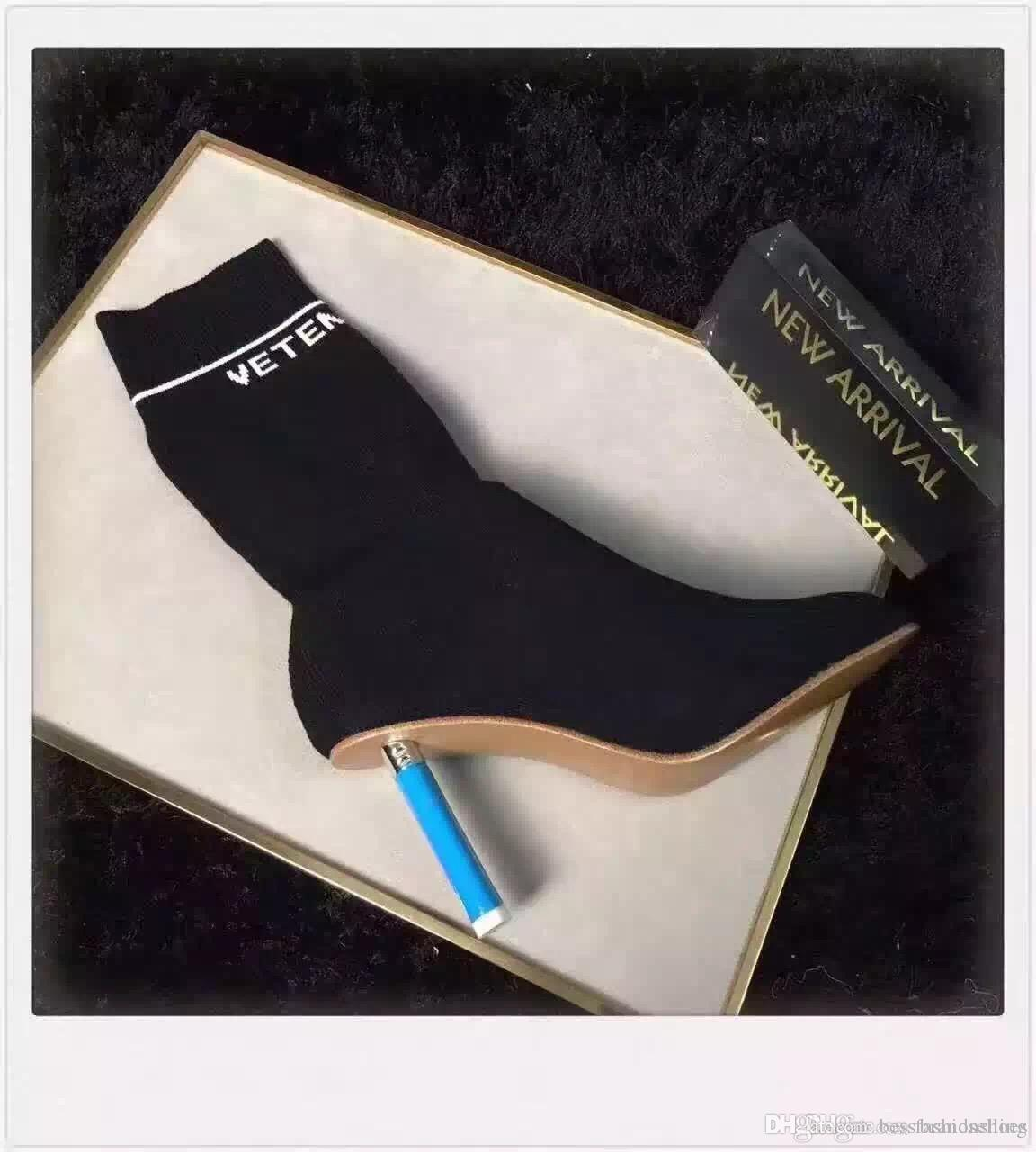 vetements lighter heel boots wine black women's fashion boot sexy autumn female heels women shoes Stretch Fabric lighter-heel middle boots