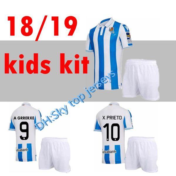 4870c4d9b Newest Top Quality Kids Kits 2018 2019 New Real Sociedad Soccer ...