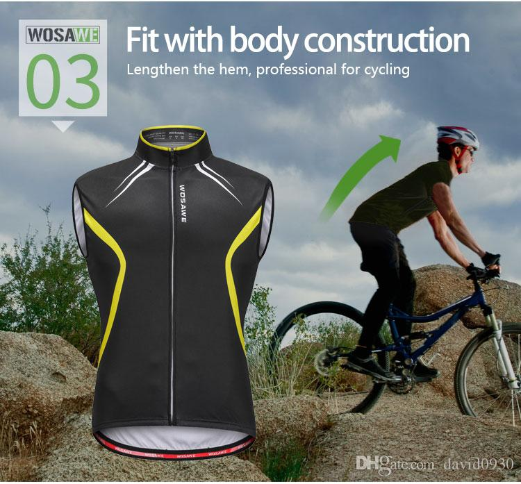 Hot! New WOSAWE Cycling Vest Men Summer MTB Bike Bicycle Quick Dry ... 02f4dfb5b