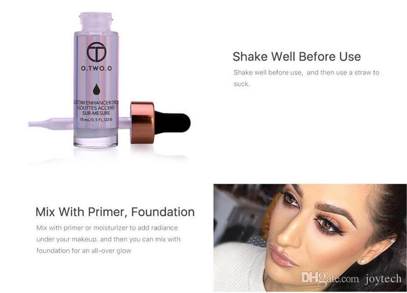 Жидкий хайлайтер макияж грунтовка мерцание лицо свечение ультра-концентрированный освещающий бронзированием капли макияж лица бесплатная доставка