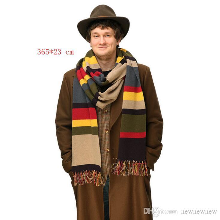 Doctor Who Scarf Stripes Tom Baker Scarf Winter Warm Super Long
