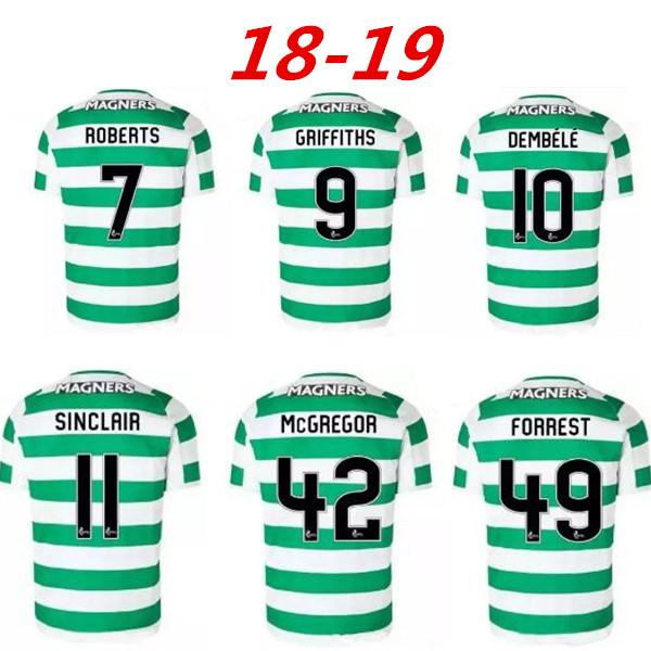 467f70976 2019 2018 2019 Scotland League Celtic Soccer Jerseys AWAY Armstrong  GRIFFITHS LUSTIG SINCLAIR BITTON BROWN 18 19 Best Quality Football Shirts  From ...