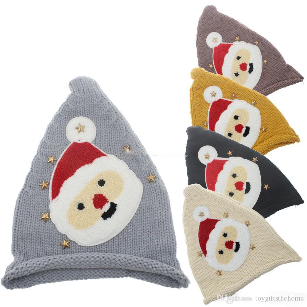 Compre Navidad Bebés Niños Niñas Papá Noel Sombreros De Tejer Gorro ...