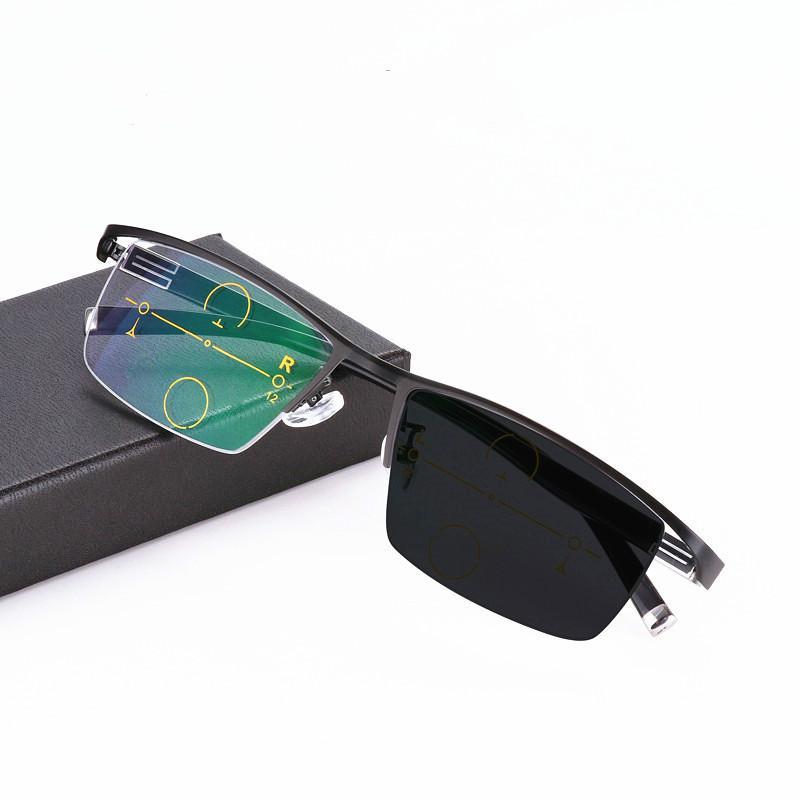 471473bb71 Compre Gafas Progresivas Multifocales Gafas De Lectura Fotocromáticas  Piernas Flexibles Del Templo Gafas De Lectura De Medio Marco De Alta  Calidad A $21.4 ...