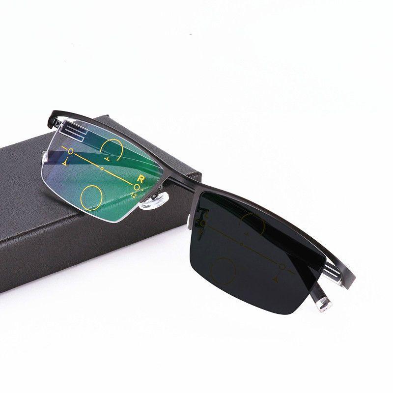 3463e8e982 Progressive Multifocal Glasses Photochromic Reading Glasses Flexible Temple  Legs High Quality Half Frame Reading Glasses Cool Reading Glasses Best  Reading ...