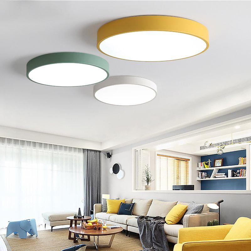 Plafonniers LED pour chambre à coucher télécommande 5cm plafonnier pour  8-20 mètres carrés moderne maison luminaire luminaire Macaron
