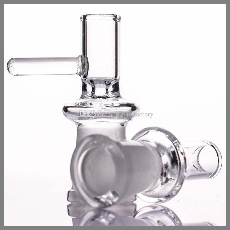 Ciotola femmina da 14,5 mm con manico Ciotola trasparente all'ingrosso mini bubbler oil rig in vetro con pipa ad acqua in vetro bong bocce femmina snodo