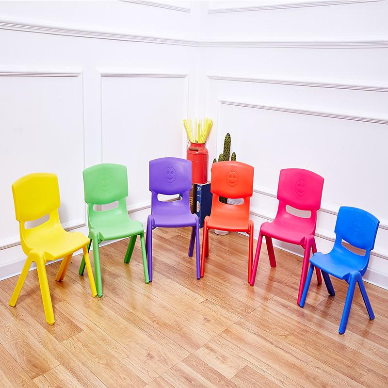 H21cm Children back chairs kindergarten chairs baby chairs stools plastic stools folding backrest stools