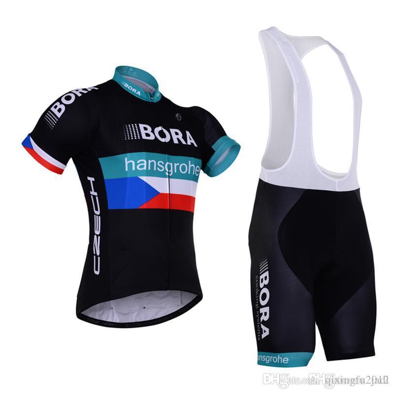 New Sports 2017 Team BORA Cycling Jersey Bike Shorts Set Ropa ... 180ad3842