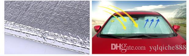 Automobile sun shield front gear, car aluminum foil SUV car summer sun bubble insulation plate sucker, sun block.