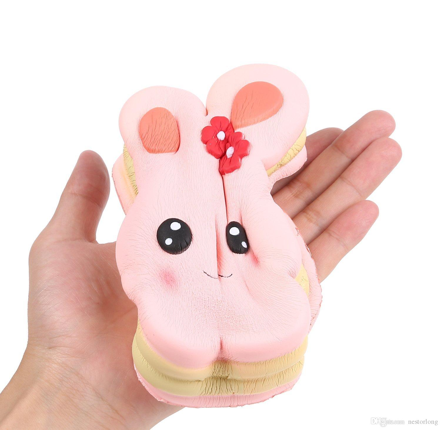 Squishies Kids Birthday Party Simulated Sweet Strawberry Big rabbit Cake Toys Decoration Photography Props Anxiety Relief Toys
