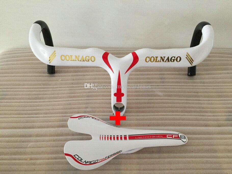 Colnago Carbon Manubrio + Colnago sella Road Racing strada del carbonio barra della maniglia del carbonio della strada della bicicletta Manubrio