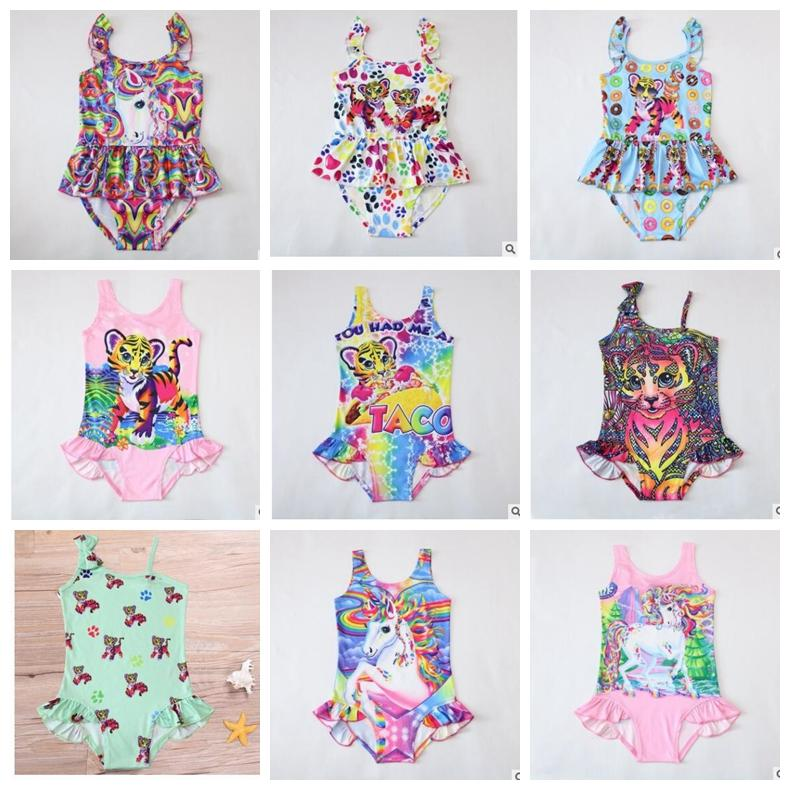 addb8db53d 2019 INS Girls Unicorn Swimwear One Piece Tiger Swimsuit Bikini Big Kids  Summer Cartoon Infant Swim Bathing Suits Beachwear 12 Design KKA4478 From  ...