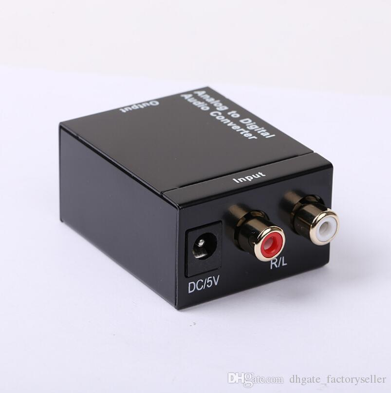 Digital Adaptador Optic Coaxial RCA Toslink Signal to Analog Audio Converter Adapter Cable LX2299