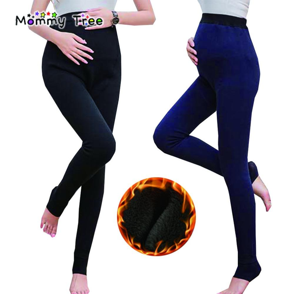 d067ae2365d8e7 2019 Winter Warm Maternity Leggings For Pregnant Women High Waisted Stretch  Pregnancy Legging Ropa Premama Clothes From Gaozang, $30.4   DHgate.Com