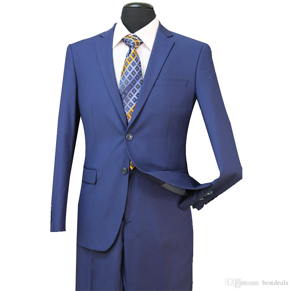 STOCK IN USA Men Wedding Suits Fit Two Buttons Two Pieces with Pants Wool Blend Tuxedos Fashion Groom Business Career Suits ST002