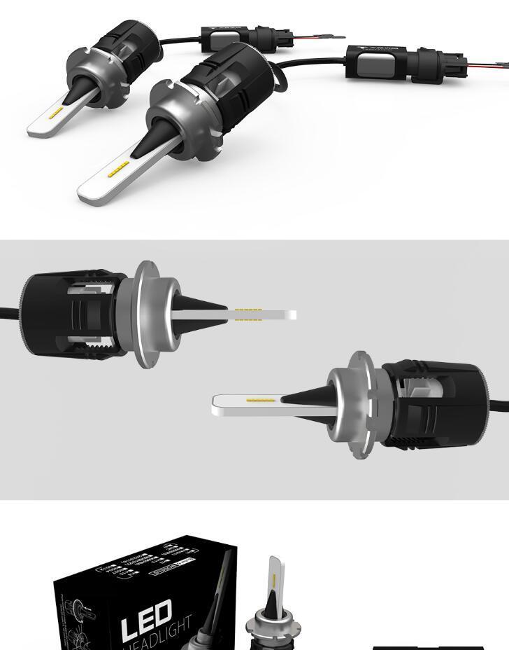 H4 H7 H11 H1 H13 9005 9006 Csp ampoules de phare de voiture LED salut-Lo faisceau 48W 7200LM 6500K ampoule de phare antibrouillard auto dc12v