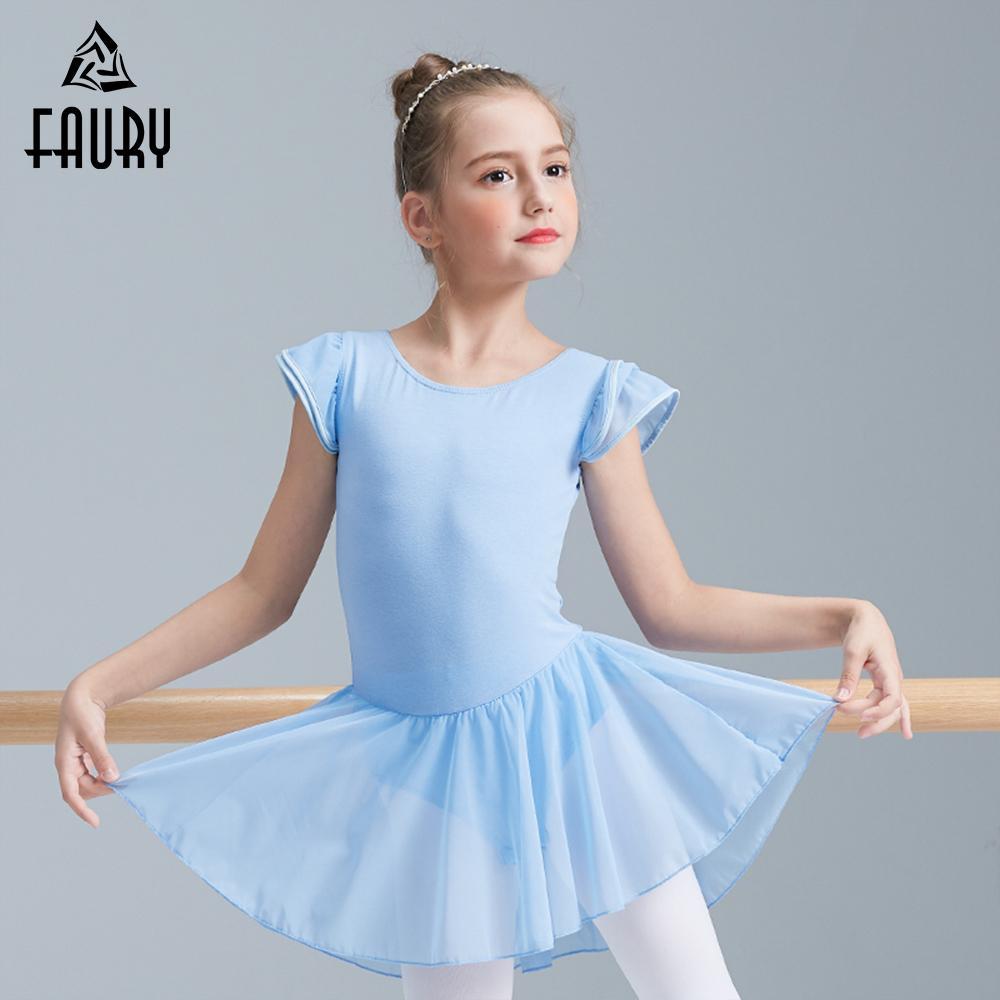 9c10a42b9653 Girls Ballet Tutu Dance Dress Kids Child Fluffy Tutus Cotton Spandex ...