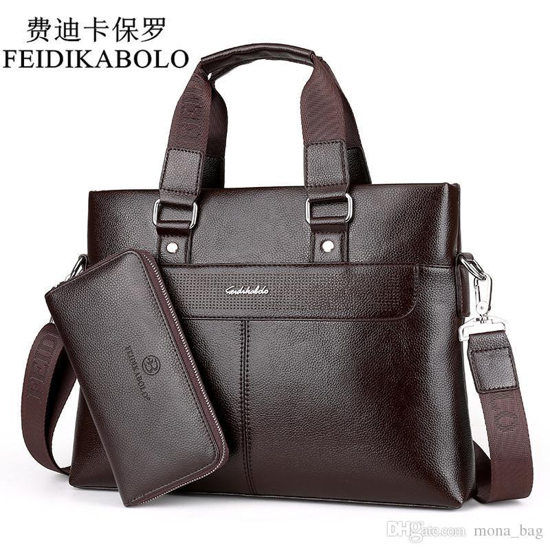 FEIDIKABOLO Fashion Men PU Leather Crossbady Bag Men Handbags Male Designer  Business Briefcase 14 Inch Laptop Bag Shoulder Bags Fashion Bags Leather  Bags ... 9117ff23d6740