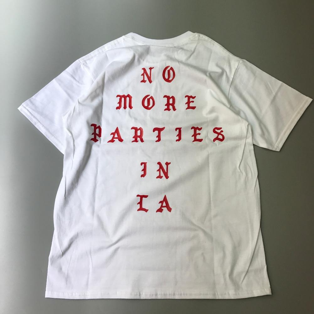 Verão Hip Hop Kanye West Eu Sinto Como Paul 100% Algodão Camisetas NÃO MAIS FESTAS EM LA CAMISAS Das Mulheres Dos Homens Tee