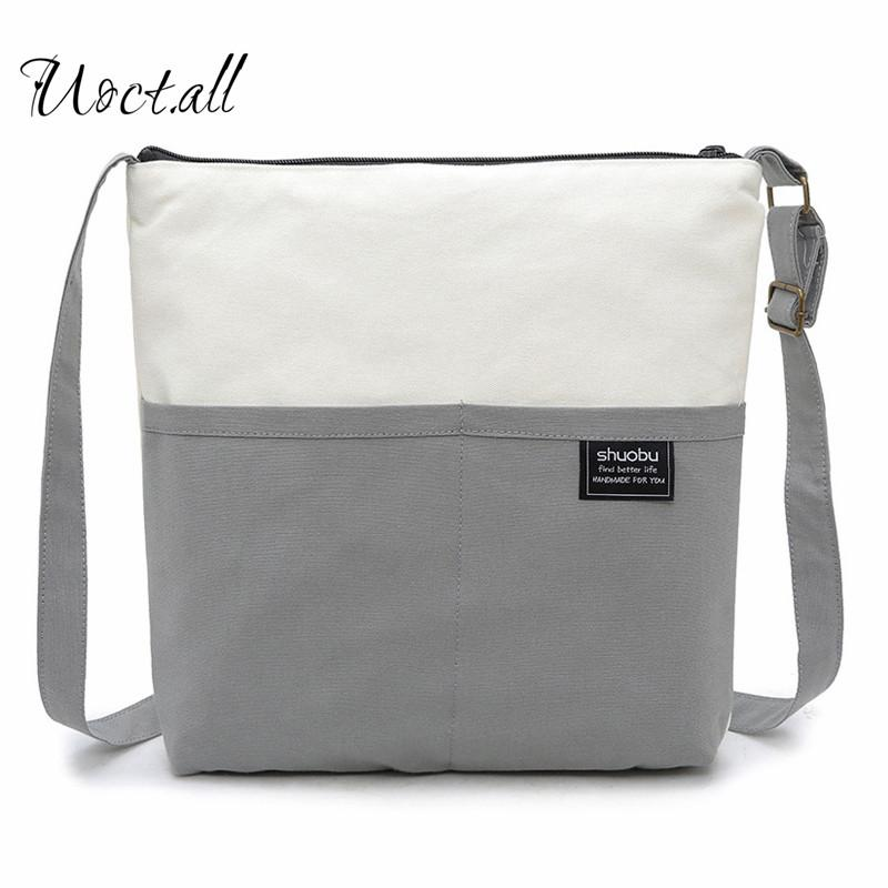 2018 New Hot Fashion Women Female Japanese Korean Casual Cute Zipper  Patchwork Canvas Bag Shoulder Bags Shopping Bags Ladies Purses Fashion Bags  From Flaky a65ffc364a03a