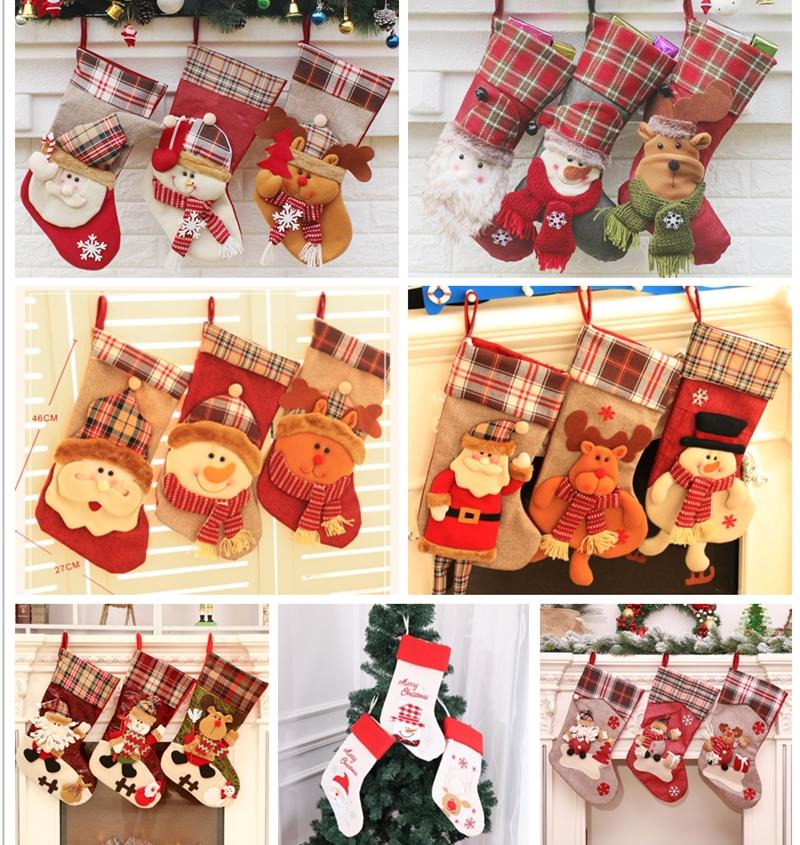 Christmas Stocking Personalized.Brand New 21 Patterns Christmas Stocking Embroidered Personalized Stocking Gift Bag Xmas Tree Candy Ornament Family Holiday Stocking