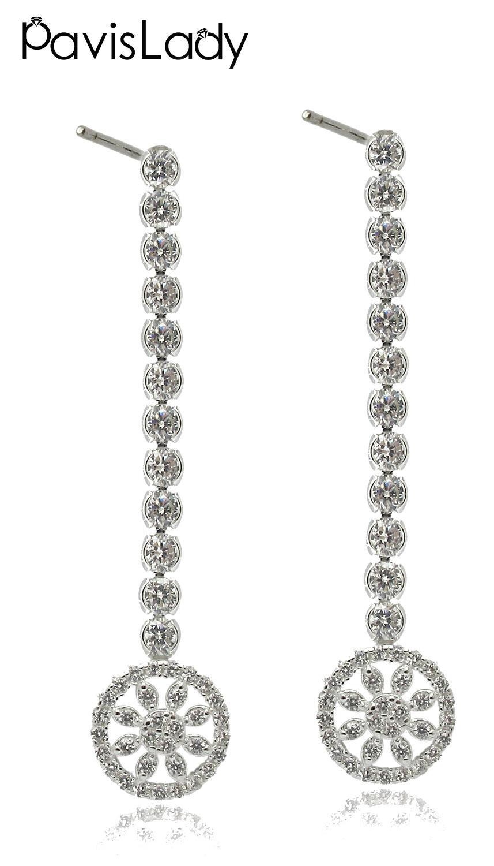 Responsible Real Sterling 925 Silver Rhinestone Heart Stud Earrings Korean Personality Wild Earrings A Great Variety Of Goods Stud Earrings