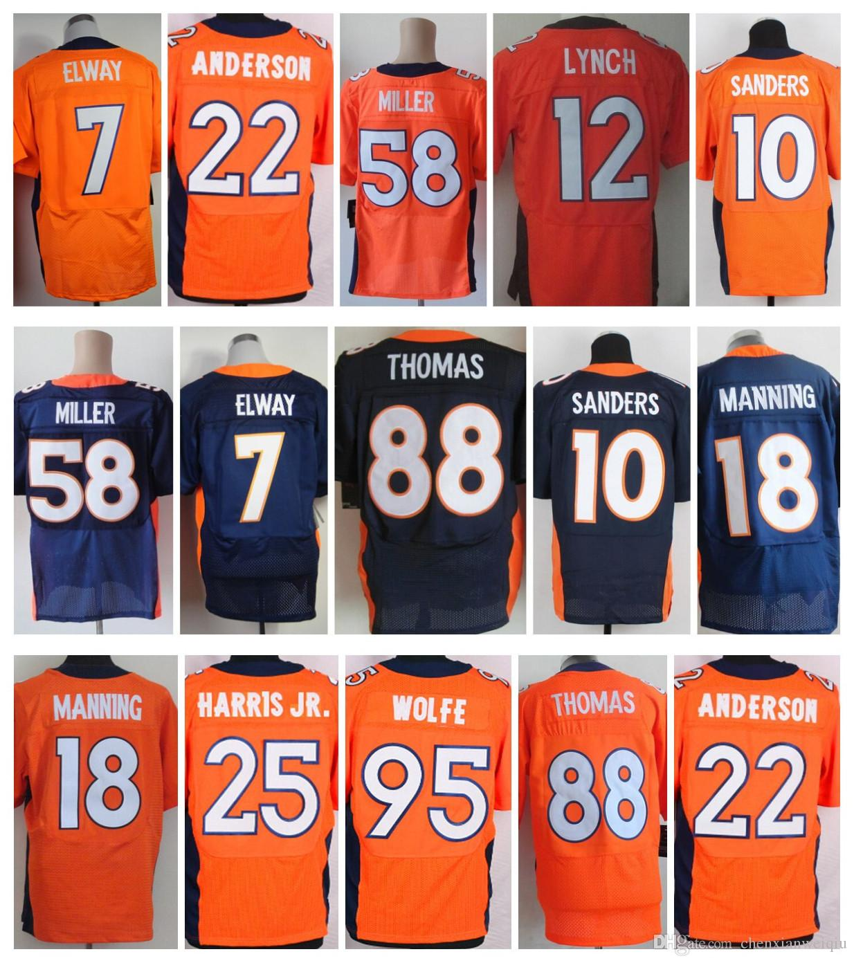 low cost discount elite men stitched denver bronco jerseys 58 von miller 18  peyton manning 95 4804dfa96