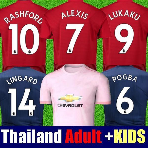 ffb3af062 Top Thai 18 19 Man Soccer Jerseys 2018 2019 Football Shirt ALEXIS ...