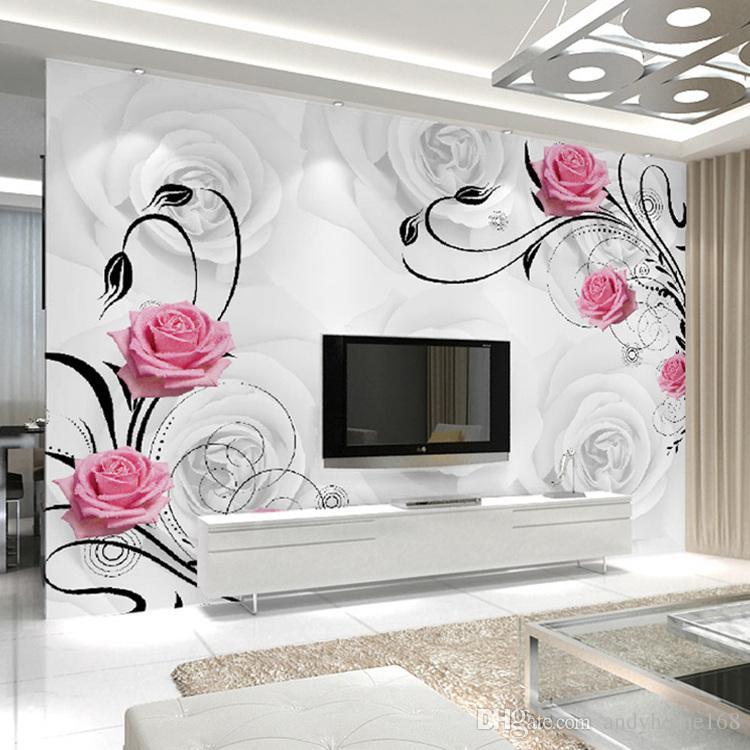 Customized 3D Flower Photo Wallpaper Living Room Bedroom