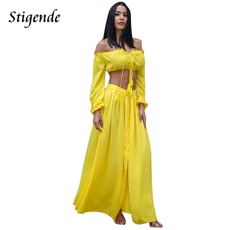 178e79586d0 2019 Wholesale PLUS SIZE Two Piece Sets Women Chiffon Long Sleeve ...