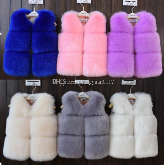 48ad30e5697d 2018 Hot Selling Winter New Children Faux Fur Waistcoats Girls ...