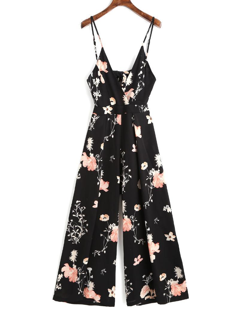 cdeaa862a94b 2019 ZAFUL Rompers Sexy Knotted Cut Out Wide Leg Jumpsuit Bohemian Floral  Print Women Jumpsuits Playsuits Ladies Bodysuits Overalls From Dalivid