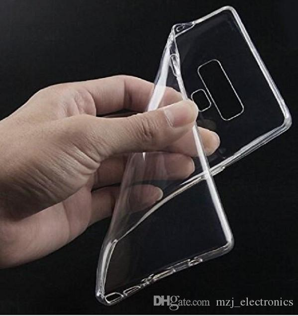 For Samsung Galaxy Note 9 transparent Soft TPU cellphone Case Cover with retail package and free shipping