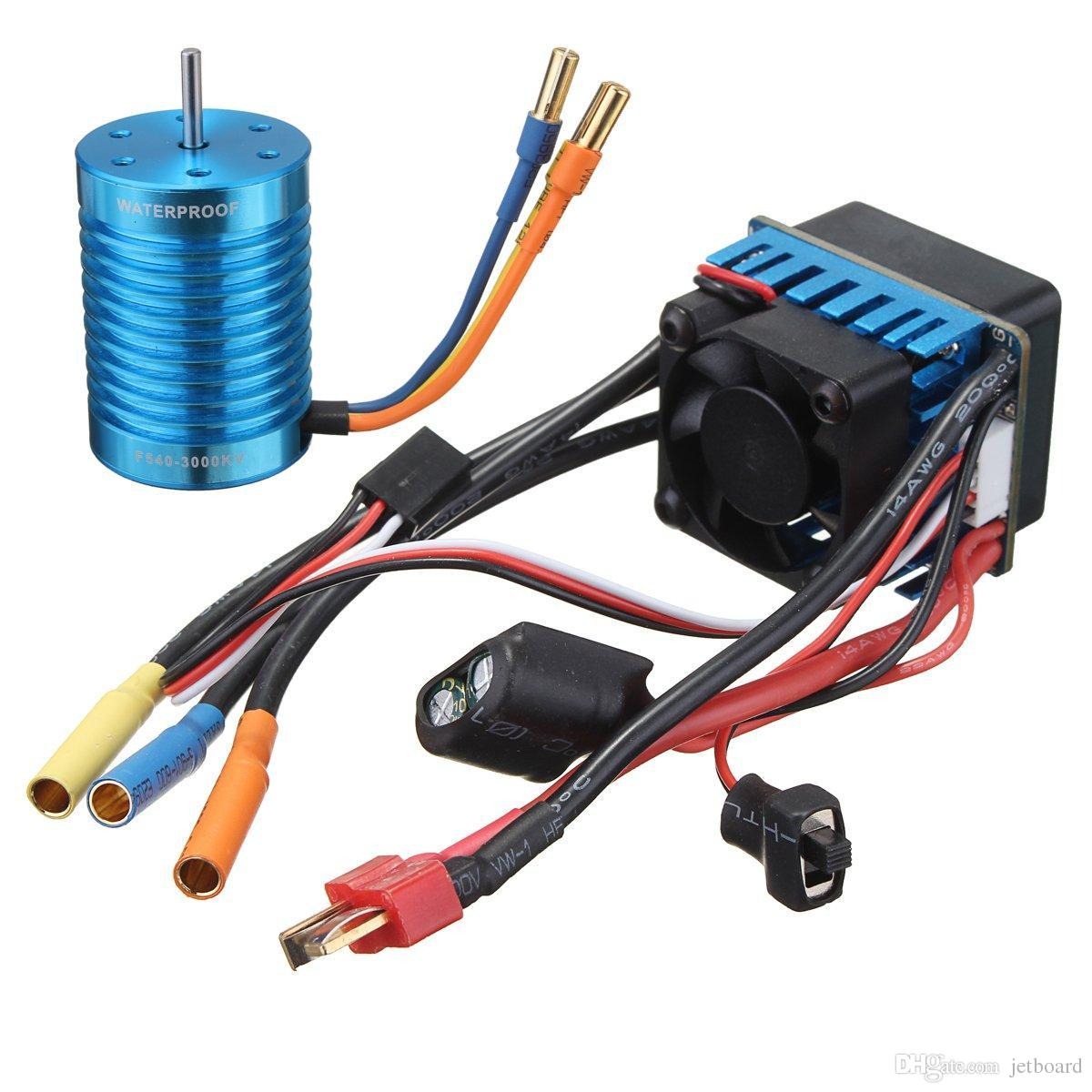 Racing 60A ESC Speed Controller F540-3000KV Brushless Motor For 1/10 1/12 RC Car/Longboard/skateboard