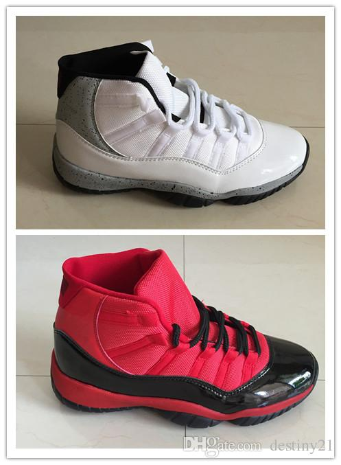 new style 013d0 0a7e7 2018 New Arrival Hot Sale 11 XI 11s Men Basketball Shoes New Color Red Black  White Grey 11 XI 11s Hight Cut Men Basketball Shoes Size 40 47. Shoes  Jordans ...