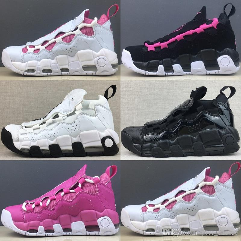 cheap for discount 93868 8fa92 2019 2018 New Women Basketball Shoes More Money QS Scottie Pippen Womens  White Black Uptempo Sneakers Trainers Basket Ball Sports Shoes From  Your choose, ...