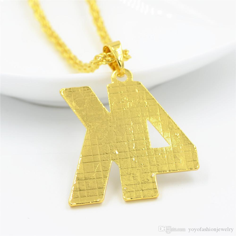 Hip Hop Bling Full Rhinestone 4K Letter Women Men DJ Pendants Crystal Stone Jewelry Gifts Golden Chains Necklaces