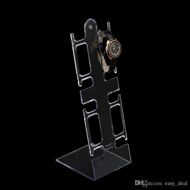 L Şekilli Temizle Siyah Plastik İzle Ekran Standı Kol Tutucu Raf İzle Bilezik Takı Ekran Standı ZA6341