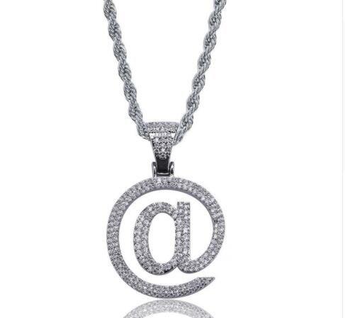 Wholesale Hip Hop Pendant Necklace Gold Silver Color Iced