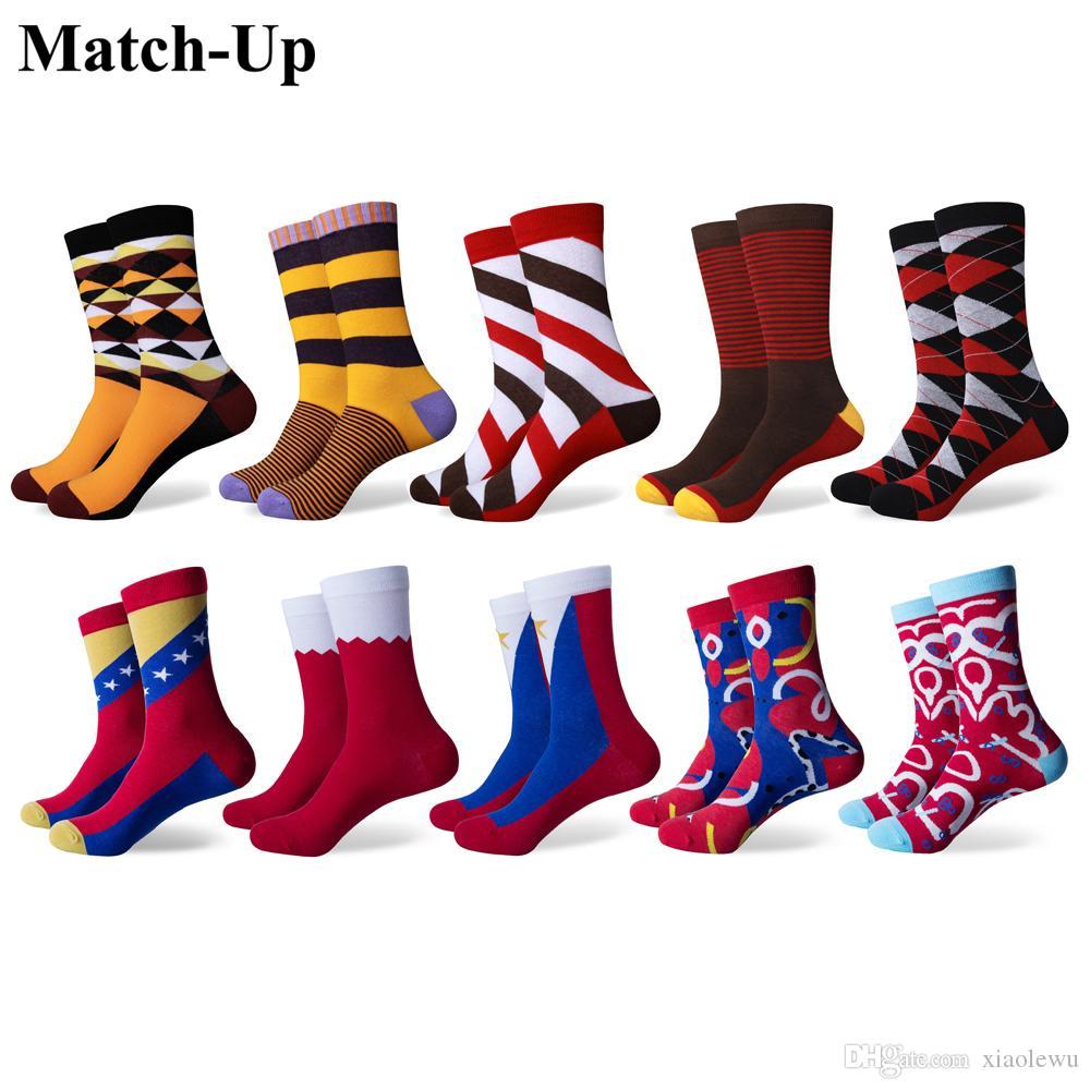 ee45688c2c5bc Acheter Chaussettes En Coton Peigné Pour Hommes De La Mode, Nouveauté,  Chaussettes Colorées Pour Équipage, Chaussettes Pour Hommes es / De $34.72  Du ...